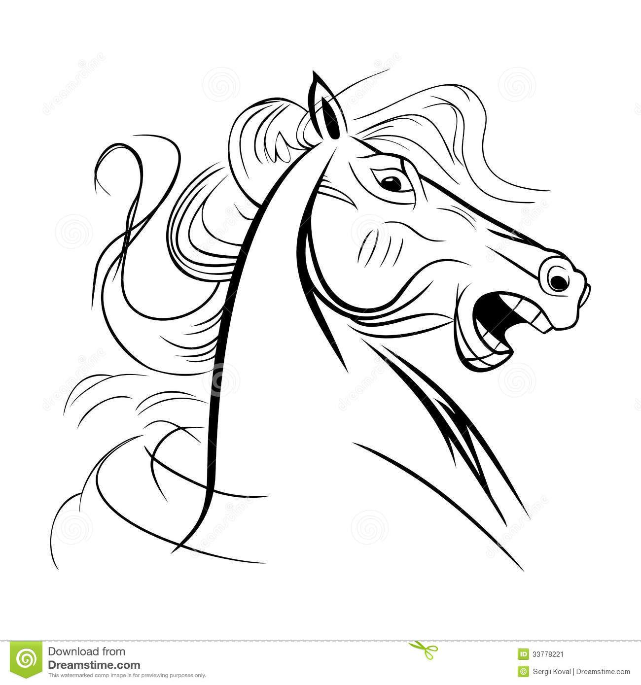 Wild Horse Coloring Pages | Wild horse coloring pages | Cartoons ...