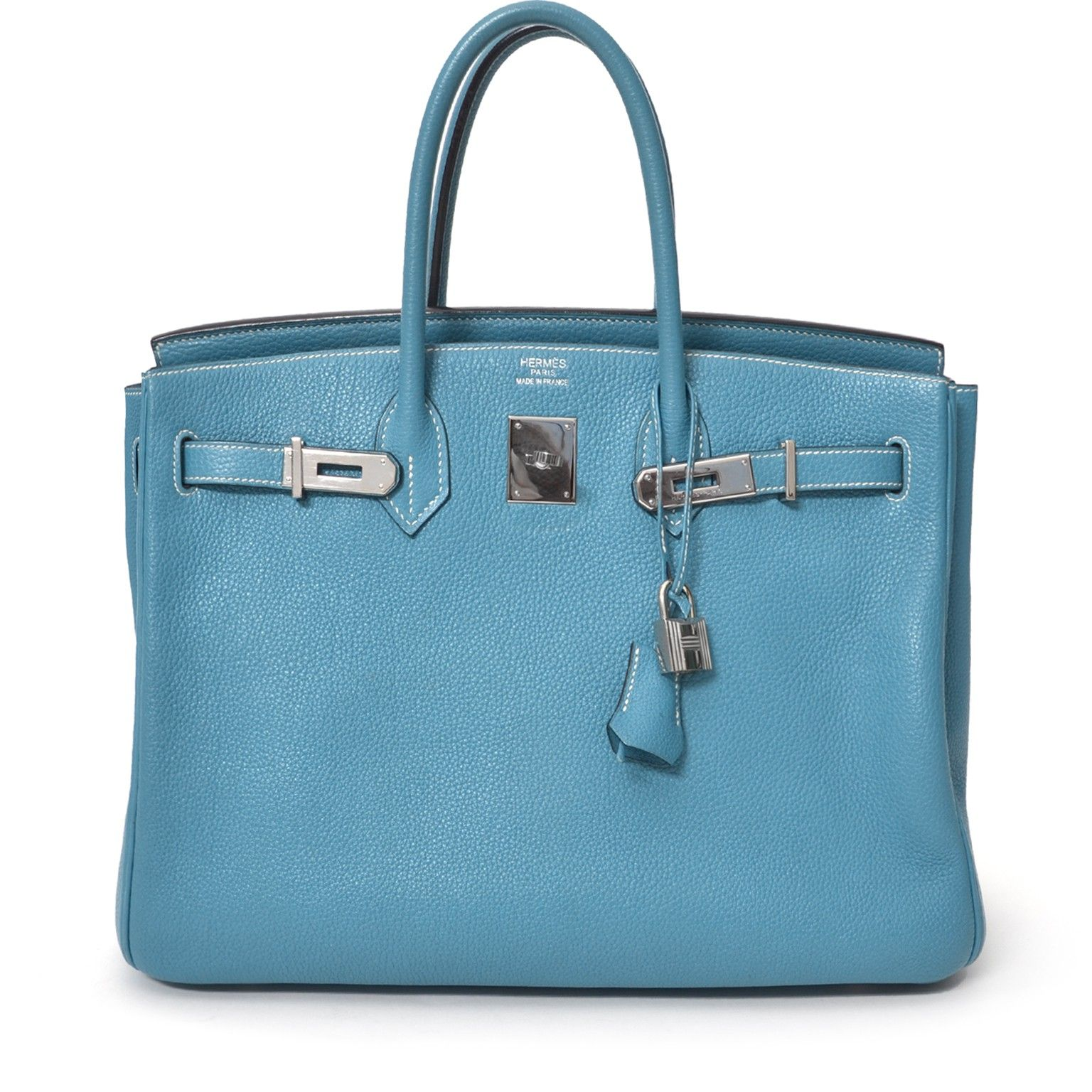 This is an iconic Hermès Birkin bag in grained Togo calfskin. Paladium  hardware throughout. cb974b5cf6