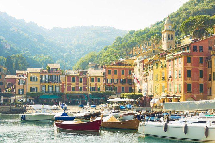 Prtofino in Italy, the port area
