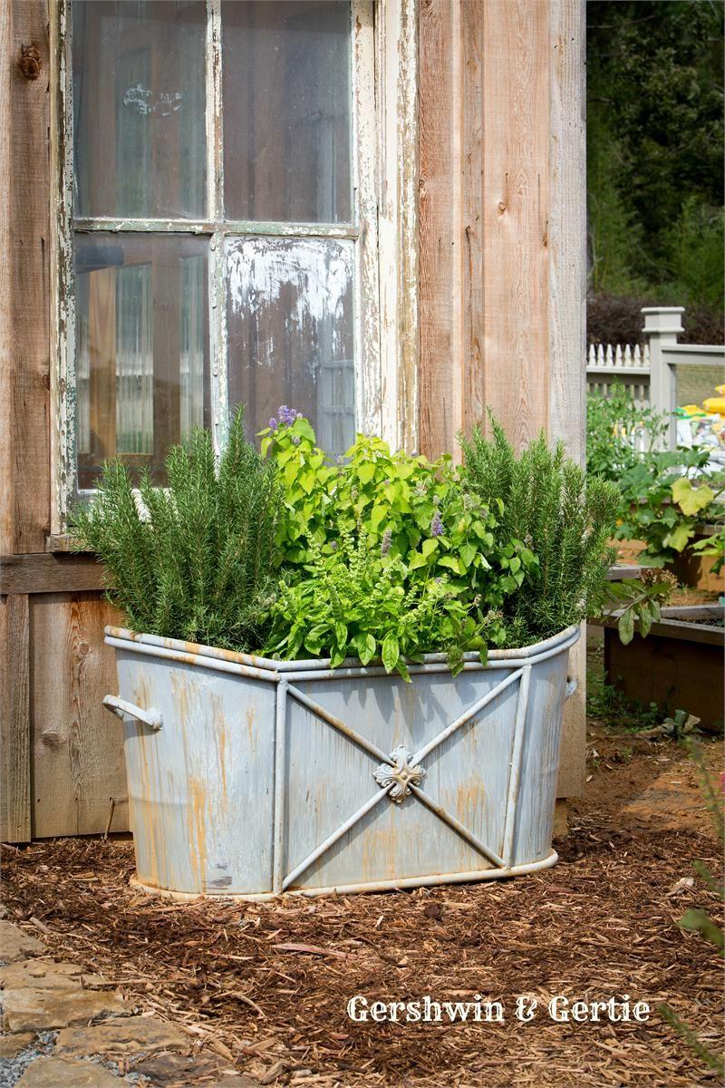 Garden tub decor  NEW Farmhouse Soaking Tub Relic  outdoors  Pinterest  Tubs