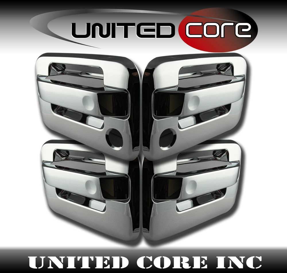 Details About Chrome Door Handle Cover Ford F150 F 150 04 14 Two Keyholes Chrome Door Handles Ford F150 Door Handles
