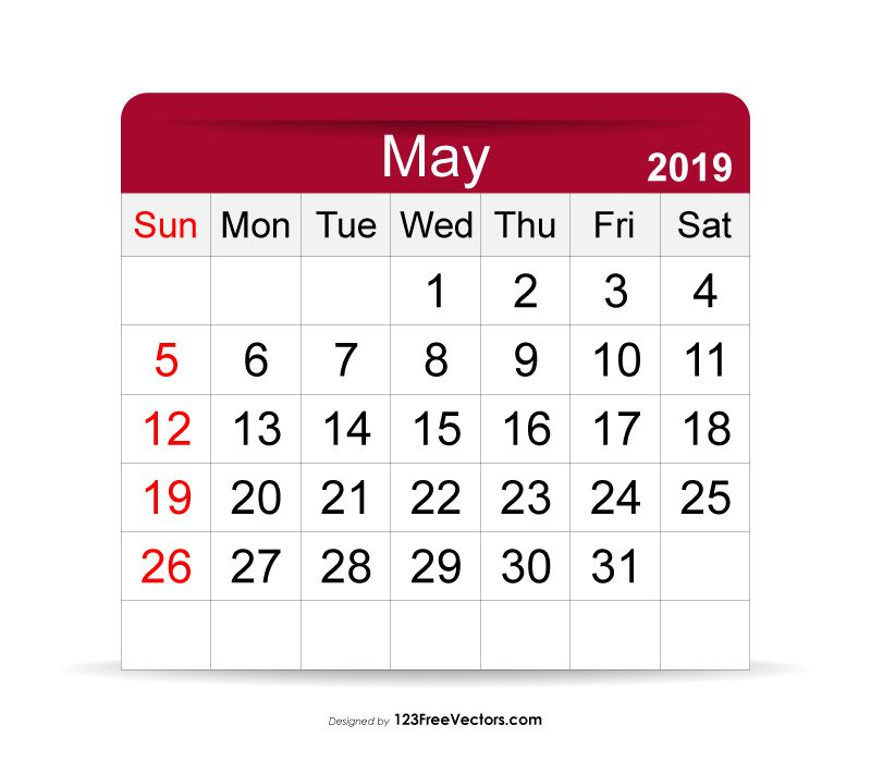 May 2019 Calendar 2019 Calendar Pinterest 2019 calendar