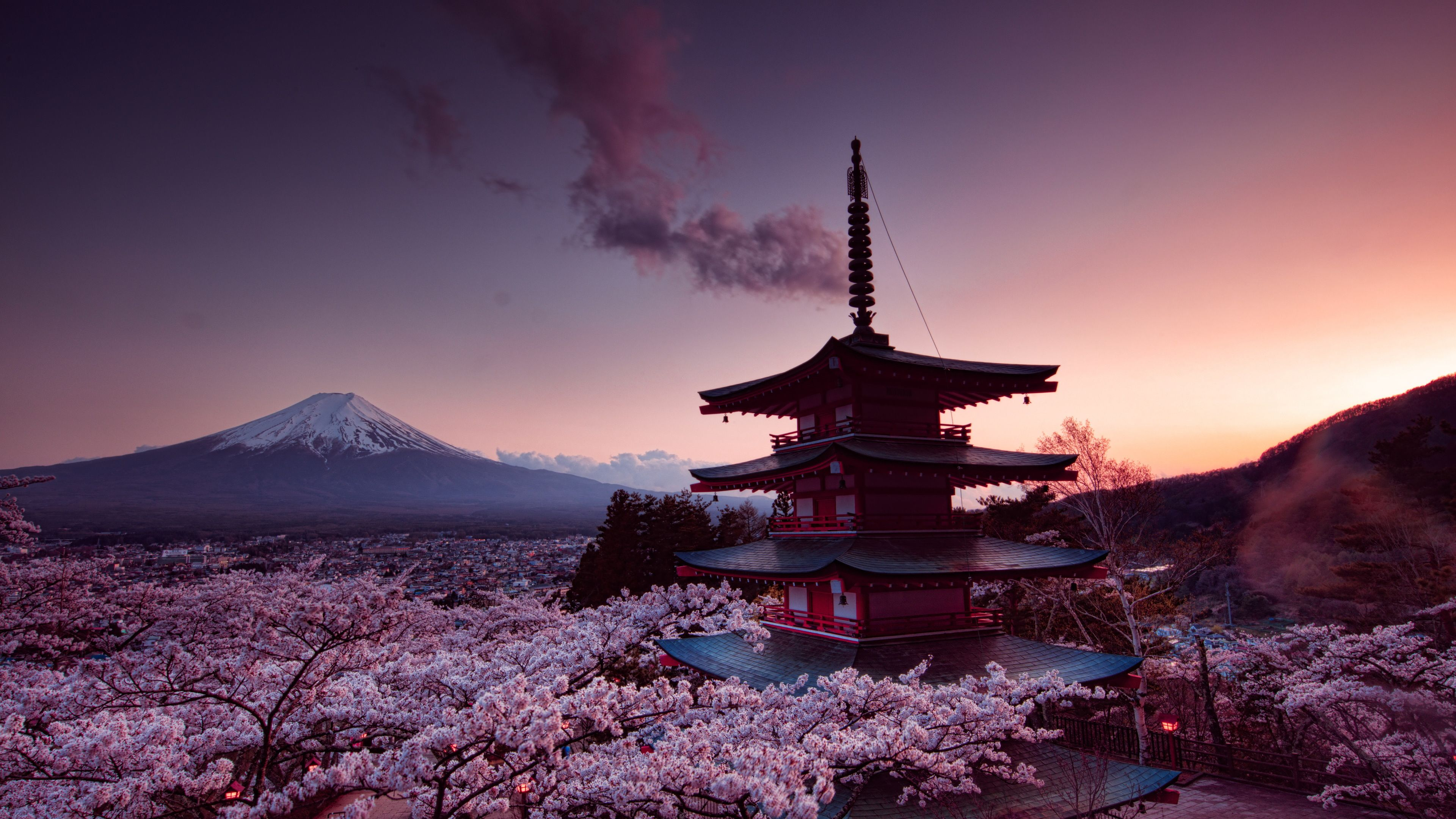 Churei Tower Mount Fuji In Japan 4k World Wallpapers Nature Wallpapers Mount Fuji Wallpapers Japan Wallpapers Hd Mount Fuji World Wallpaper City Wallpaper