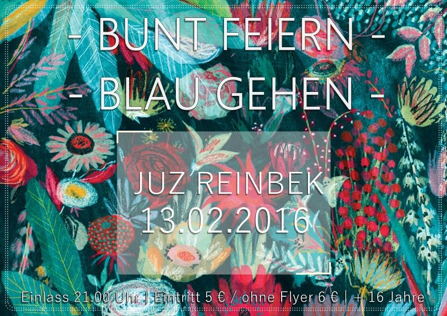 bunt feiern blau gehen abitur flyer flowers party school design