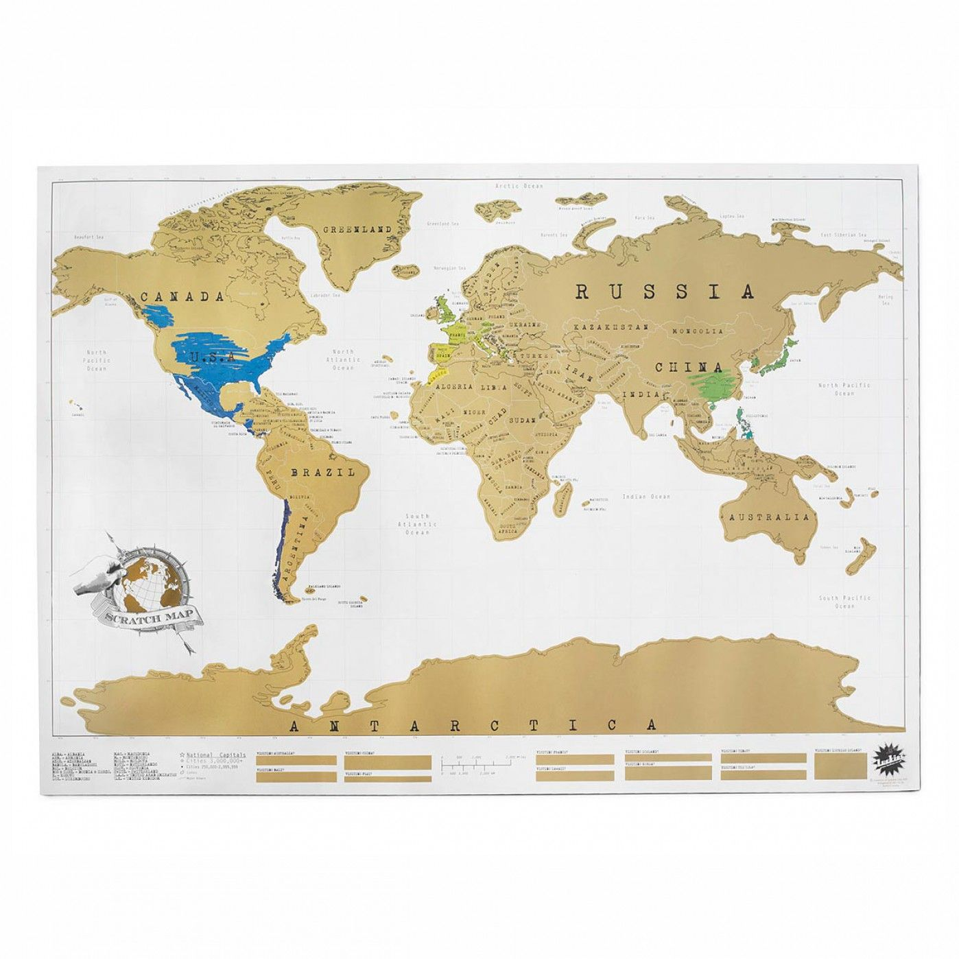 Carte du monde à gratter | Travel gifts
