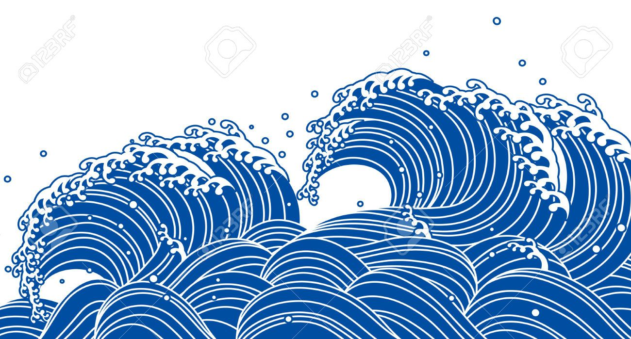 Blue wave, Japanese style | Landscapes - Water | Pinterest