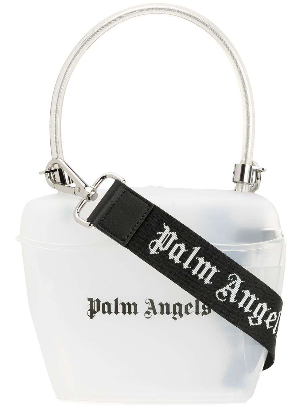 5e2216aa664b PALM ANGELS PALM ANGELS TRANSPARENT PADLOCK TOTE - WHITE. #palmangels #bags  #shoulder bags #hand bags #tote