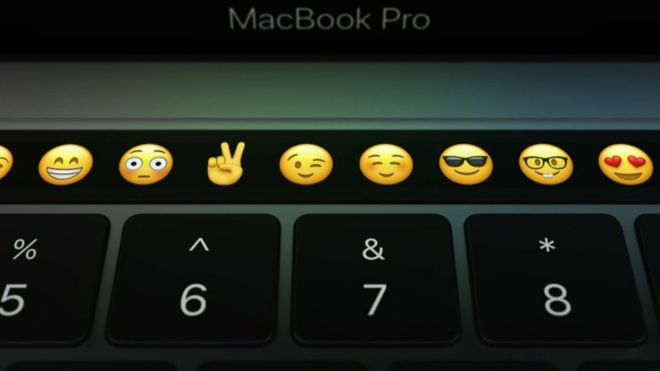 Apple adds Touch Bar to MacBook Pro laptops - BBC News