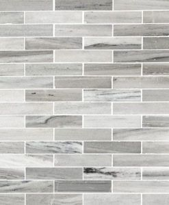 White Gray Some Brown Tones Modern Subway Marble Kitchen Backsplash Tile Ba1034 From