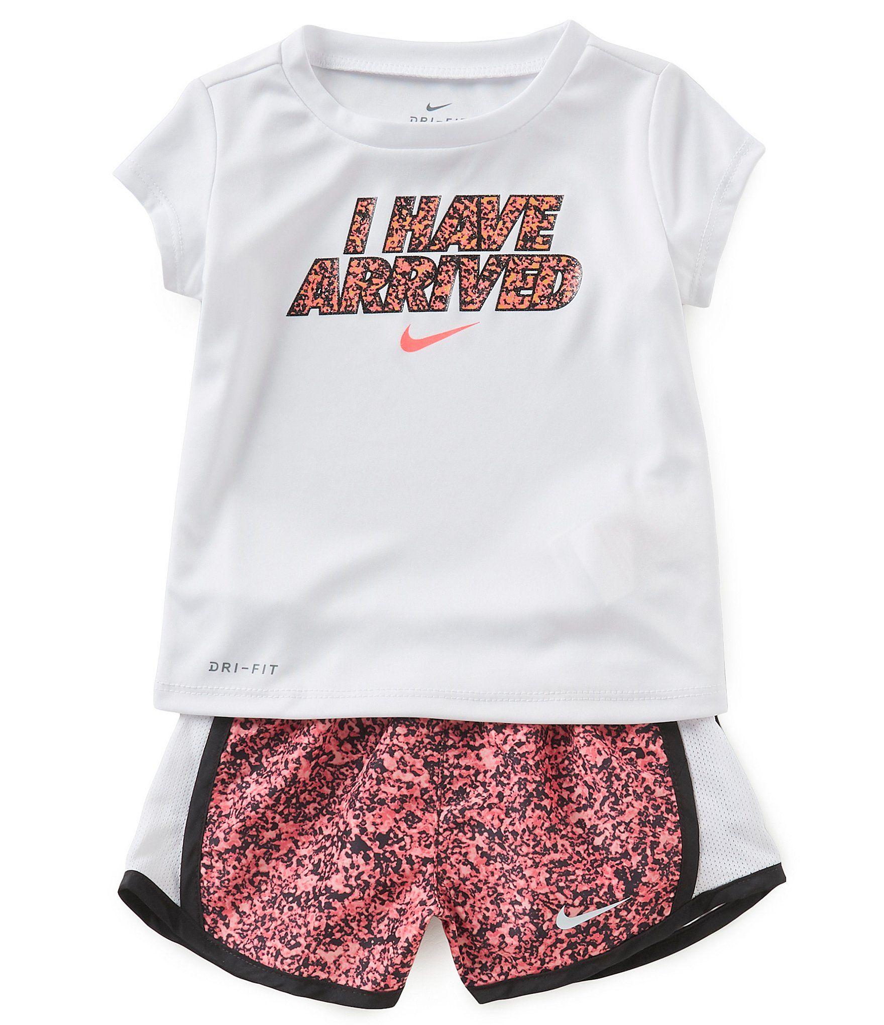 4e18c78d73 Shop for Nike Baby Girls 12-24 Months Short-Sleeve I Have Arrived Tee &  Sublimation-Printed Short Set at Dillards.com. Visit Dillards.com to find  clothing, ...