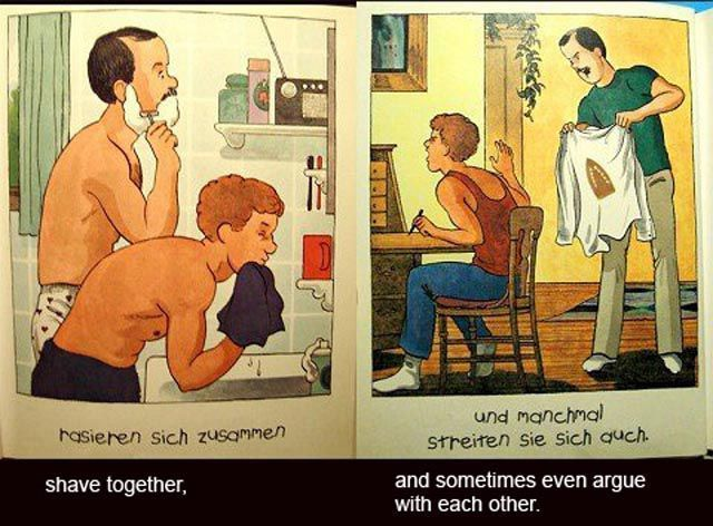Daddy's Roommate 4 Daddy's Roommate is a children's book written by Michael Willhoite and published by Alyson Books in 1991. The book, about a young boy whose divorced father now lives with his gay partner, deals with the controversial subject of homosexual parents.