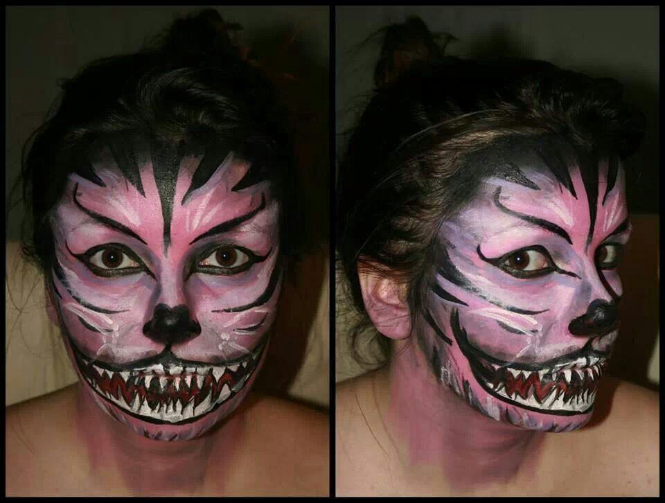 Pin by Kasia Kat Borzymowska on Face painting Pinterest - halloween face paint ideas scary