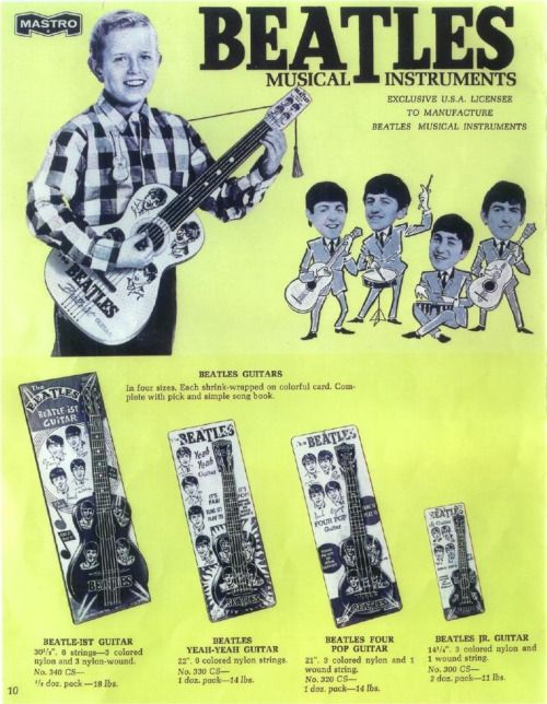 The Beatles Musical Instrument Toys 1960s Probably Pretty Rare Now Wonder How Many