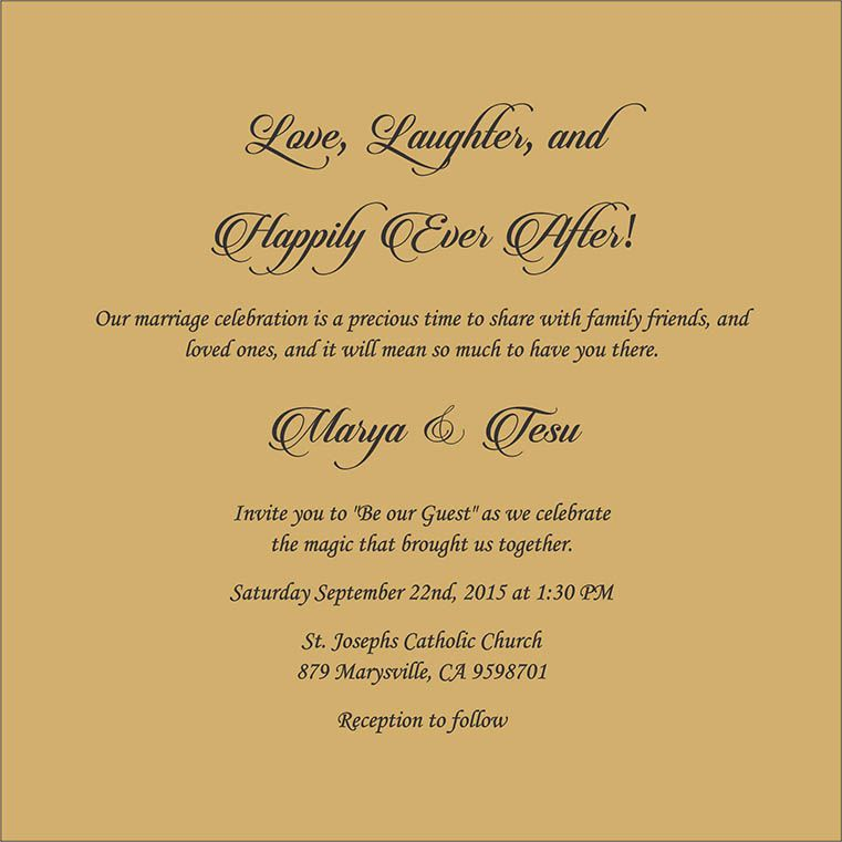 Wedding Invitation Wording For Christian Wedding Ceremony