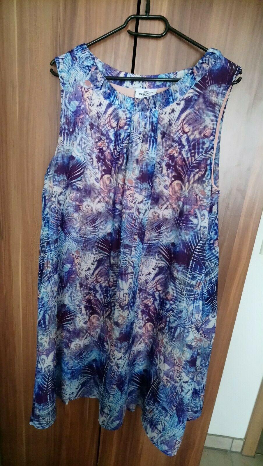 Damen Kleid von Gina Benotti Gr. 19/19 schönes Muster - Schöne