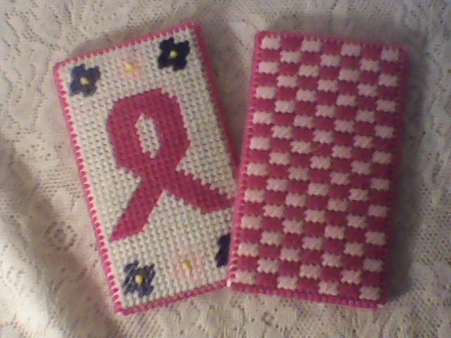 fa58cb9602d6 plastic canvas breast cancer eyeglass case