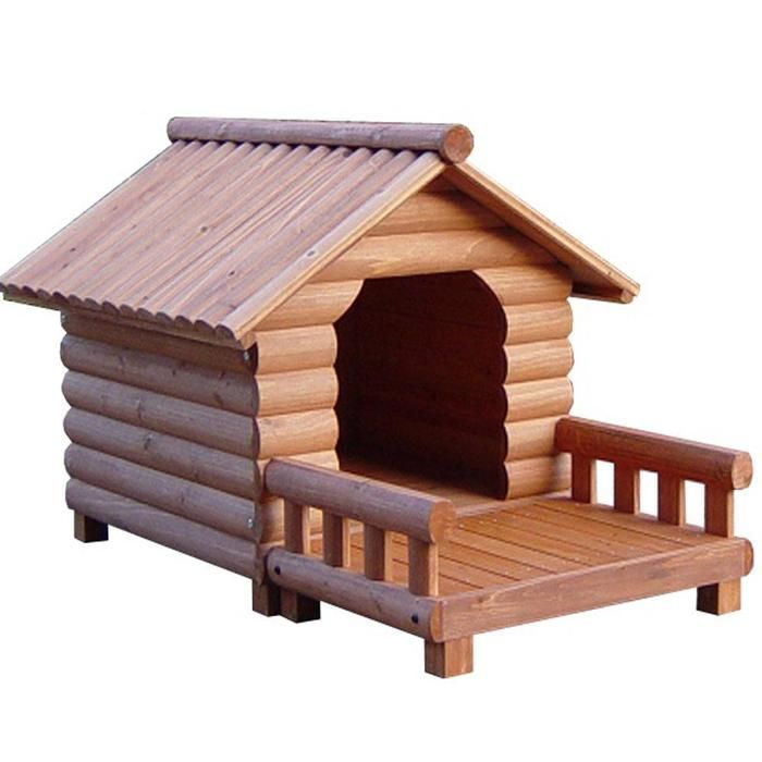 Wooden indoor dog house ideas with terrace - Luxury outdoor dog houses ...