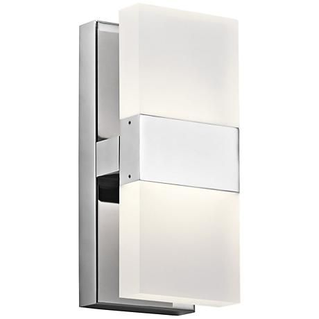 elan haiden 11 14 high chrome led wall sconce