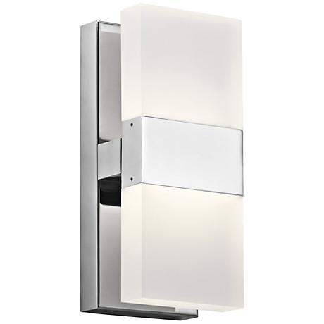 Lights · elan haiden 11 1 4 high chrome led wall sconce