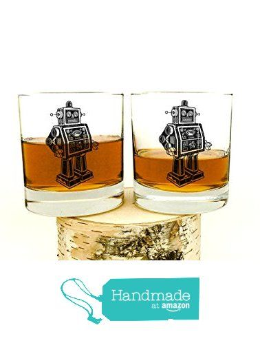 Whiskey Glasses - Retro Robot - Set of Two 11oz. Tumblers from Crawlspace Studios https://www.amazon.com/dp/B01F6EG0HQ/ref=hnd_sw_r_pi_dp_RXUIxb757WTPQ #handmadeatamazon