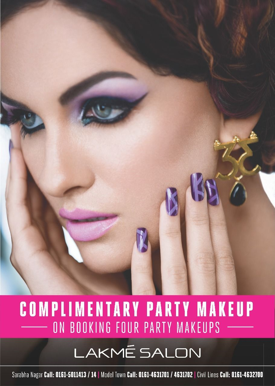 #Lakme_Salon_Ludhiana #lakme #lakmesalonldh #Makeup #makeover #instamakeup On booking, four party makeups get one complimentary makeup The exquisite makeup ...