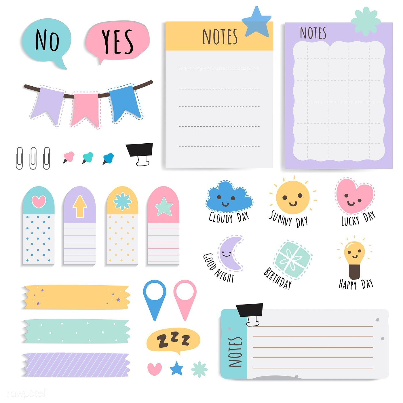 picture about Printable Note Papers identify Adorable sticky notice papers printable fixed cost-free picture by way of