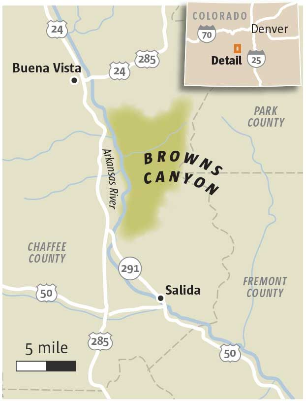 Browns Canyon Map : browns, canyon, Obama, Declare, Browns, Canyon, Colorado, National, Monument, Monuments,, Monument,