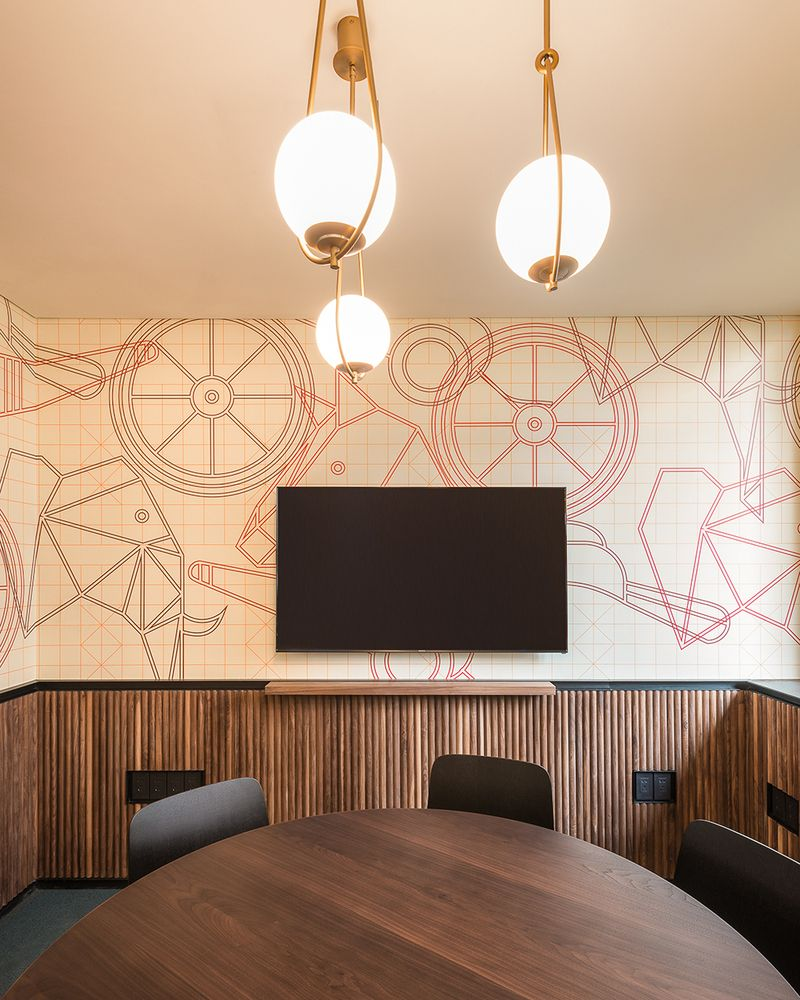 Gallery Of How To Calculate How Much Wallpaper You Need 6 In 2020 Interior Wall Design Coworking Office Coworking
