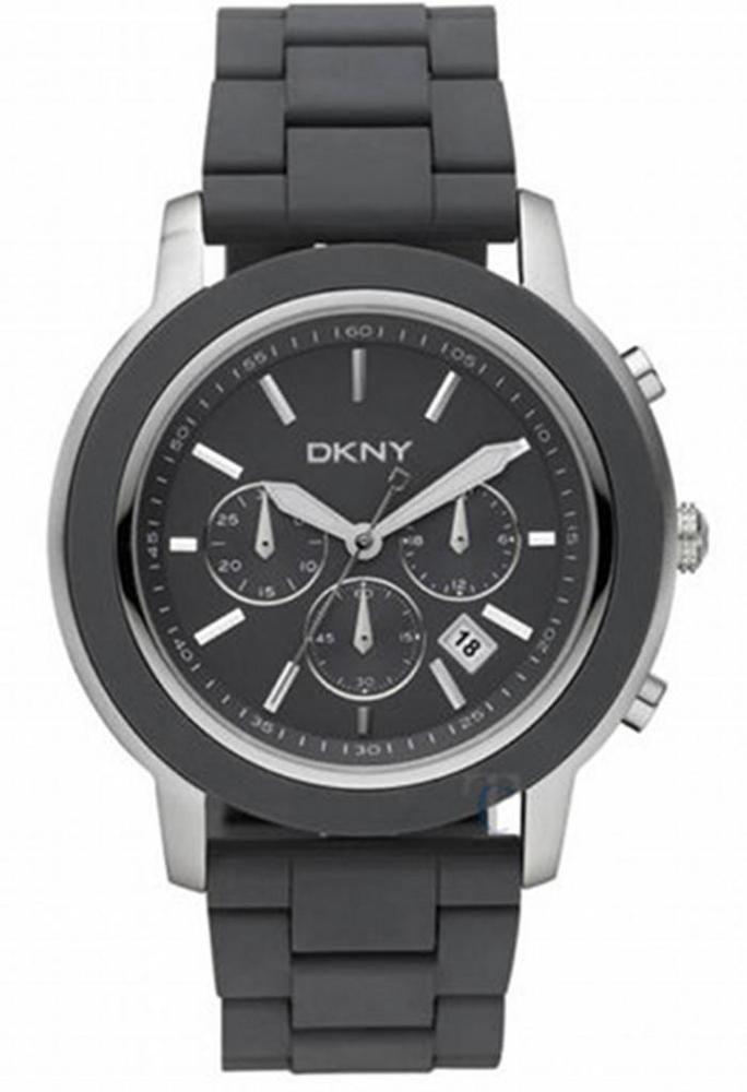 aa3d79d9ca9 New DKNY Men s Chronograph Date Watch Gray Polyurethane Bracelet NY1492  47mm  DKNY  Casual