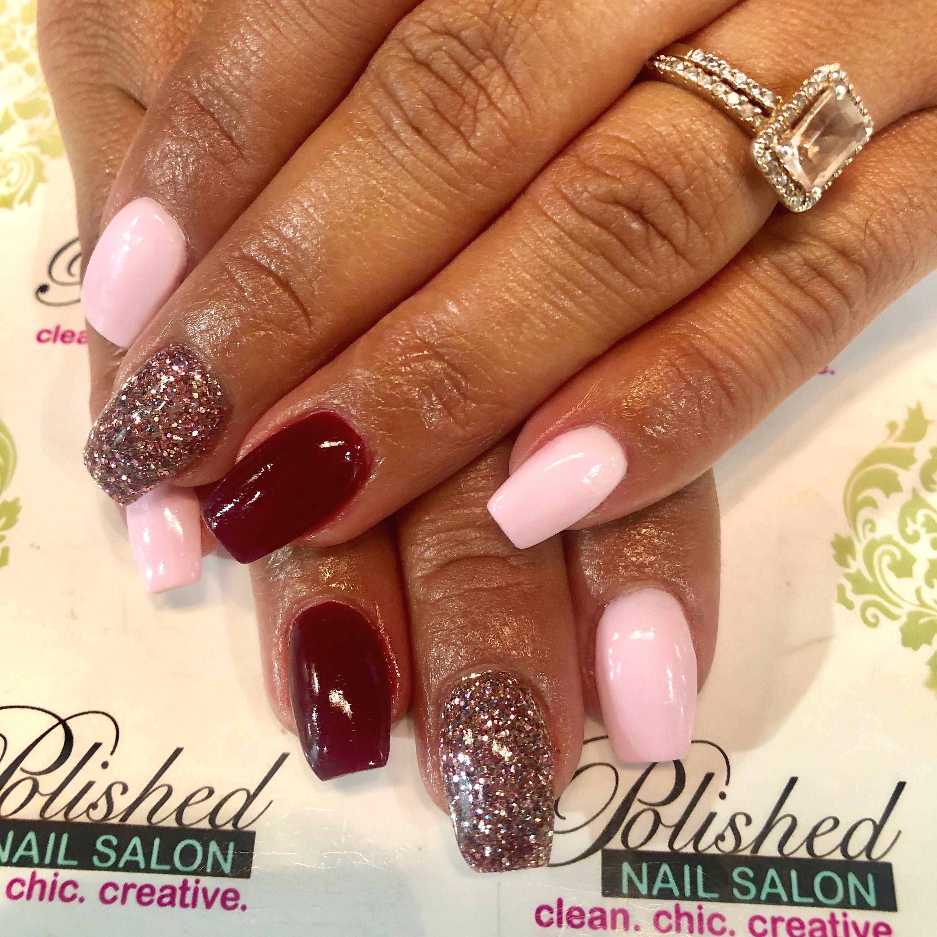 Pretty In Pink All Year Long Holiday Nails New Year S Nails Powder Nails