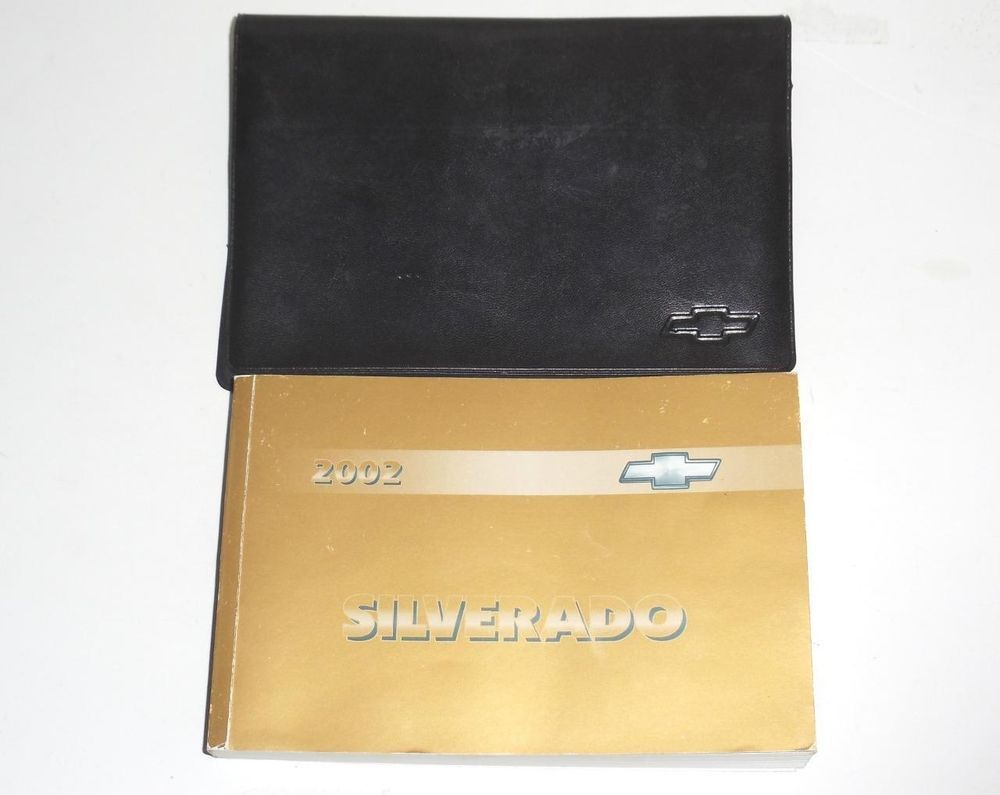 2002 Chevrolet Silverado Owners Manual Book Guide with Leather Case