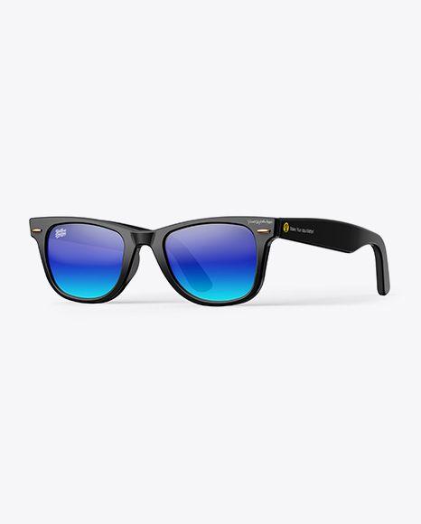 Sunglasses Mockup Half Side View In Apparel Mockups On Yellow Images Object Mockups Mockup Psd Free Sunglasses Mockup Downloads