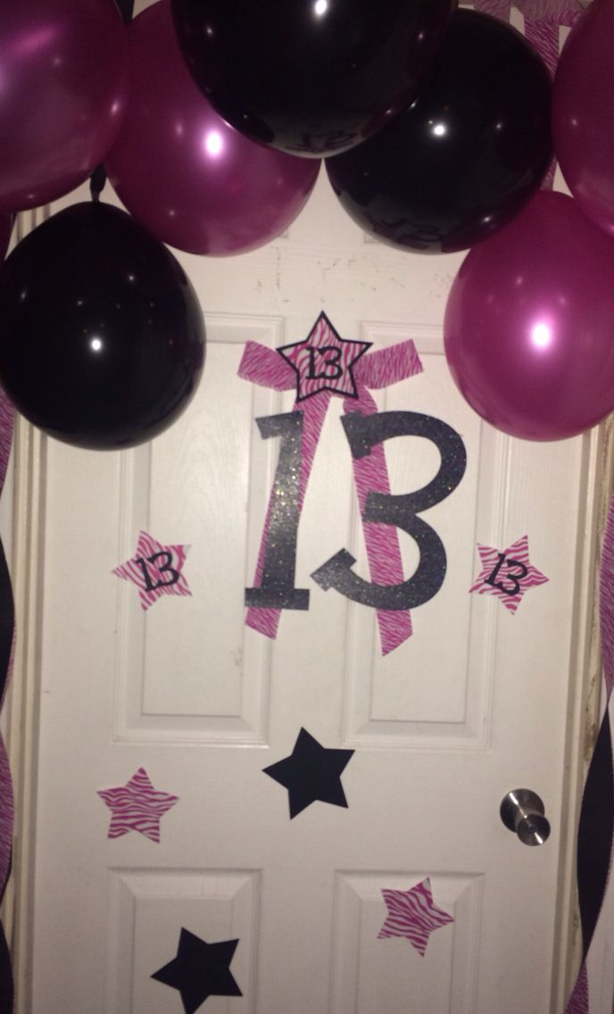 Happy 13th Birthday Door Decor