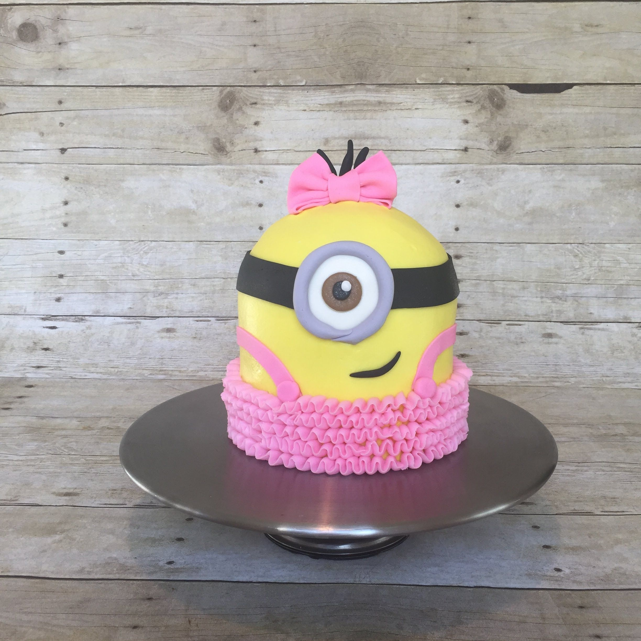 Simple Buttercream Minion Girl With TuTu Tutorial Time Lapse