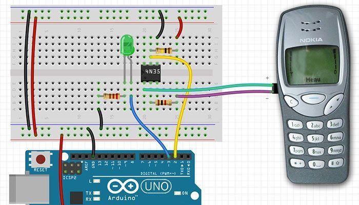Alte Handys kann man super als Inputs für Arduino benutzen