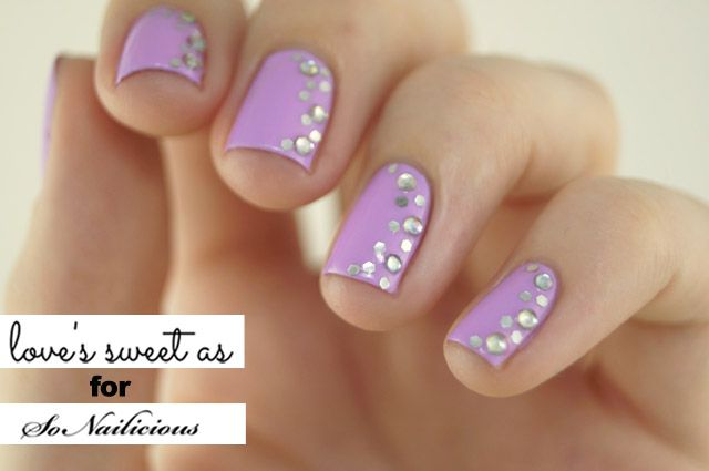 The Sideways French Spring Nail Art Tutorial Nails Pinterest