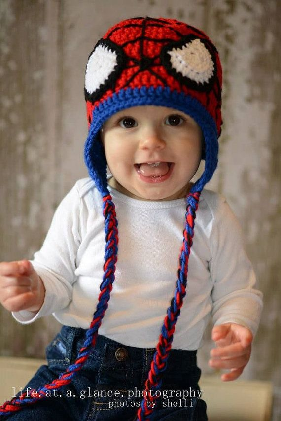 Spiderman Crocheted Hat, Superhero Avenger Crochet, Newborn Photo ...