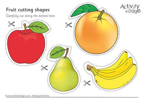 Fruit Cutting Shapes | Shapes for kids, Fruit, Cutting ...