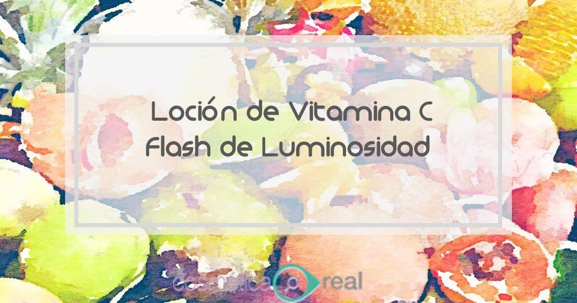 Loción casera de vitamina C. Flash Concentrado de