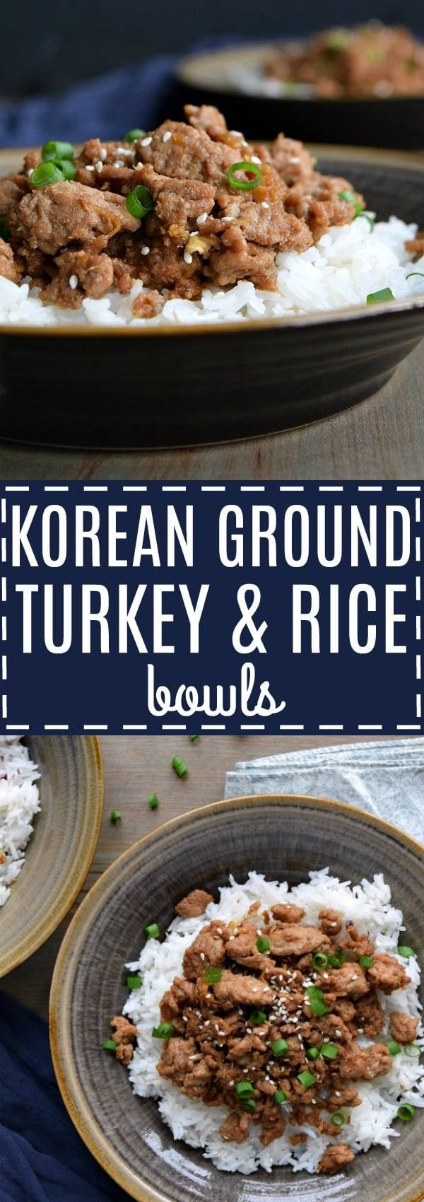 Korean Ground Turkey & Rice Bowls | The Schmidty Wife