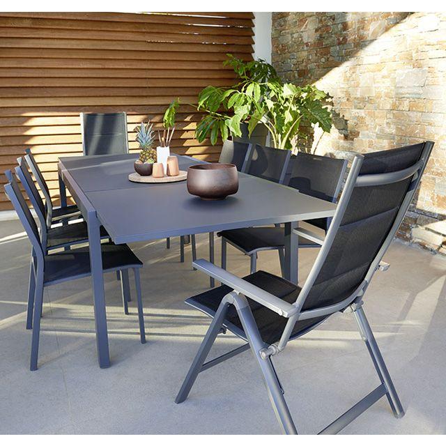 Lot table de jardin Sumatra + 4 chaises de jardin Batz + 2 fauteuils ...