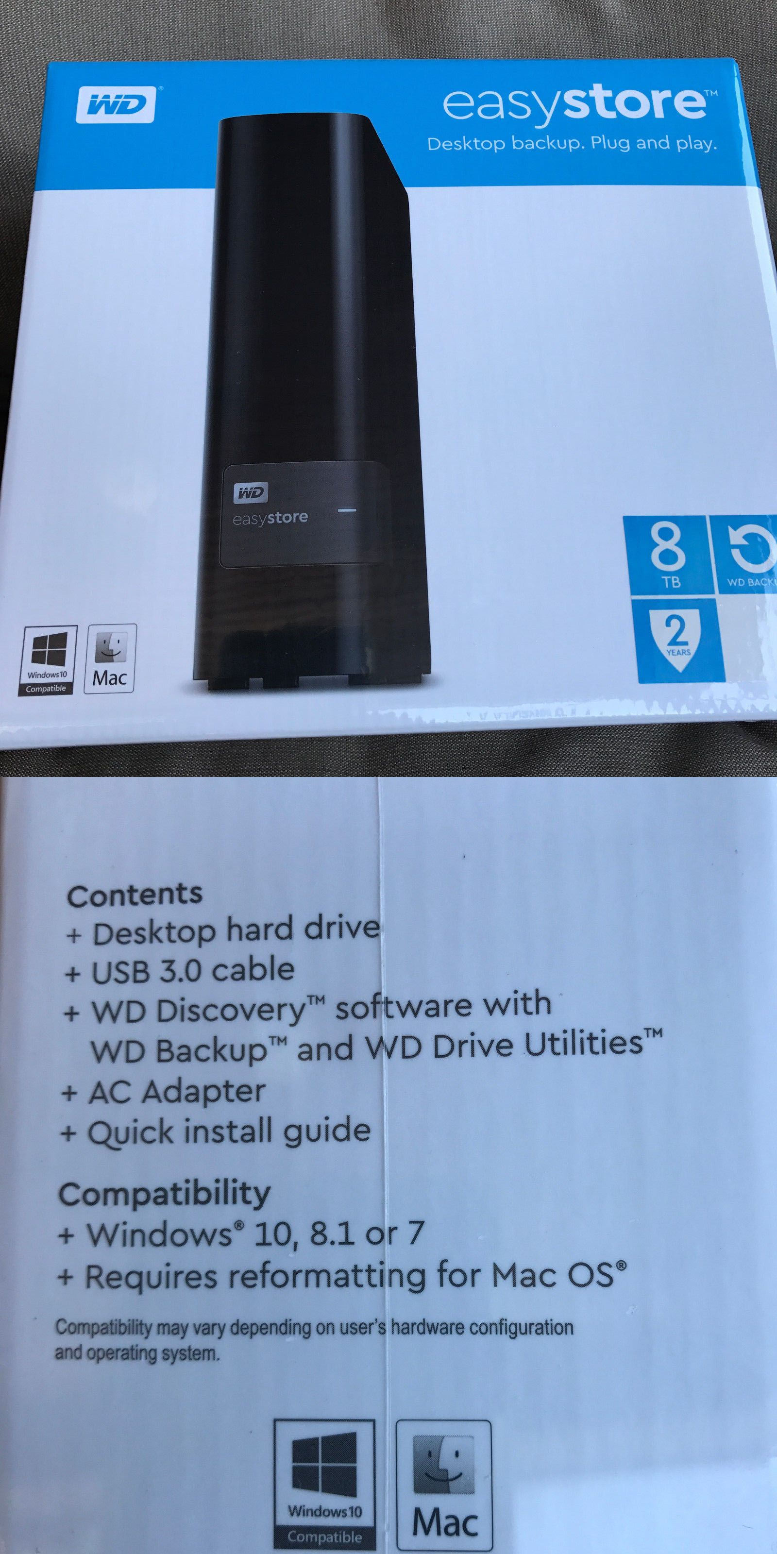 External Hard Disk Drives 131553: New Wd Western Digital Easystore