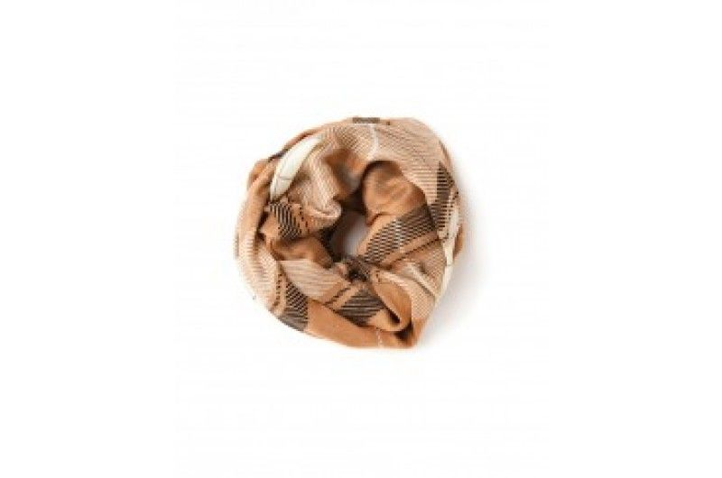Camel Plaid Viscose Scarf Viscose, a treated, natural plant fiber and one of our signature fall fabrics transforms into a statement piece you can wrap and drape in countless styles. Whether you need an accent accessory to give your favorite white shirt some pizazz or a veil of warmth after the Lowcountry sun sets, this is just the right accessory!