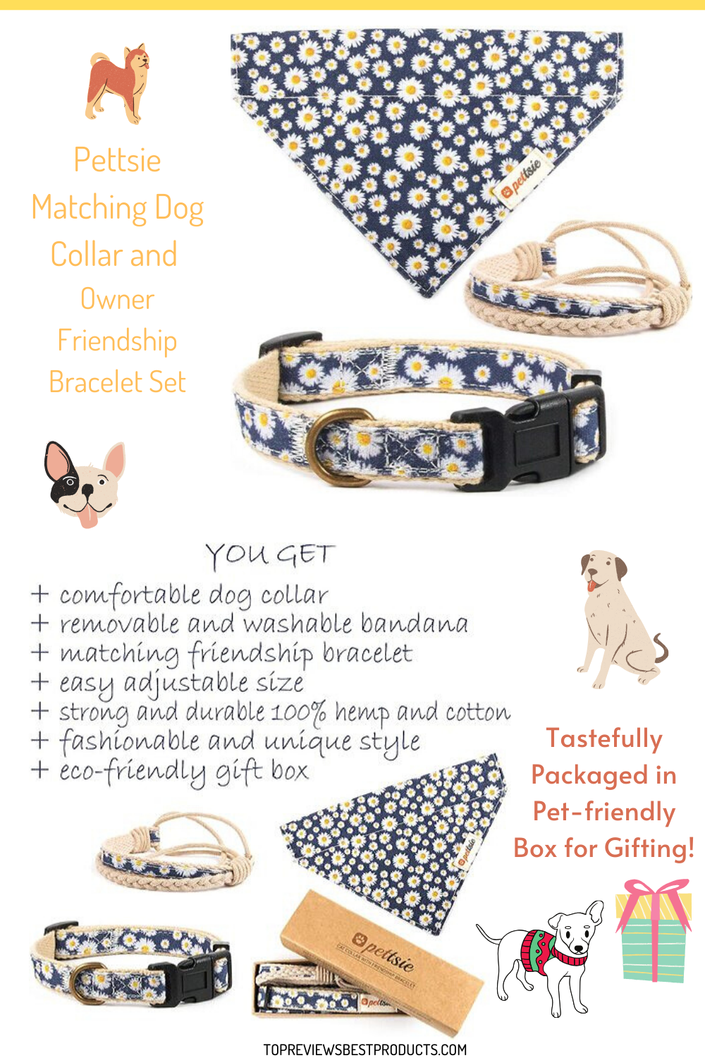 Slip on this chic, eye-catching accessory and feel connected to your best furifrend always and forever. #dog #doglovers #doggift #giftfordog #dogbirthdaygift #cutegiftfordoglovers #dogcollar #dogbandana #matchingfriendshipbracelet #dogloversgift #pooch #Dog #Pup #dogproducts #puppy #dogs #puppies #doggy #pooches #dogowner #ilovedogs #dogmom