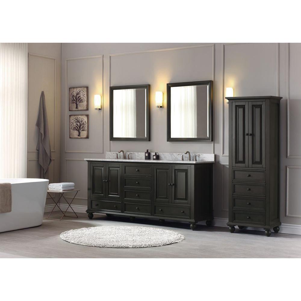 Avanity Thompson 72 In W X 21 In D X 34 In H Vanity Cabinet In Charcoal Glaze Thompson V72 Cl The Home Depot Bathroom Vanity Bathroom Sink Vanity Double Vanity Bathroom