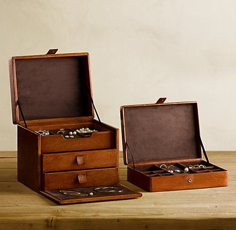 Leather jewelry boxes Womens Fashion Pinterest Leather