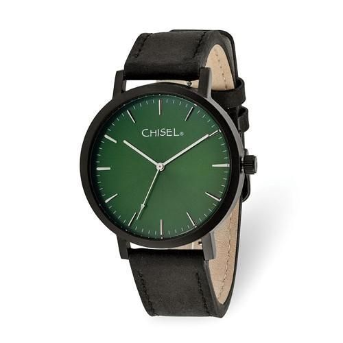 86e902066cfb Chisel Matte Black IP-Plated Green Dial Watch in 2019
