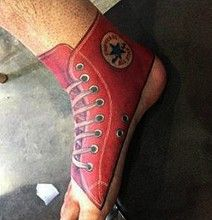 32800b59fdb1 Converse Shoe Foot Tattoo For The Trendy