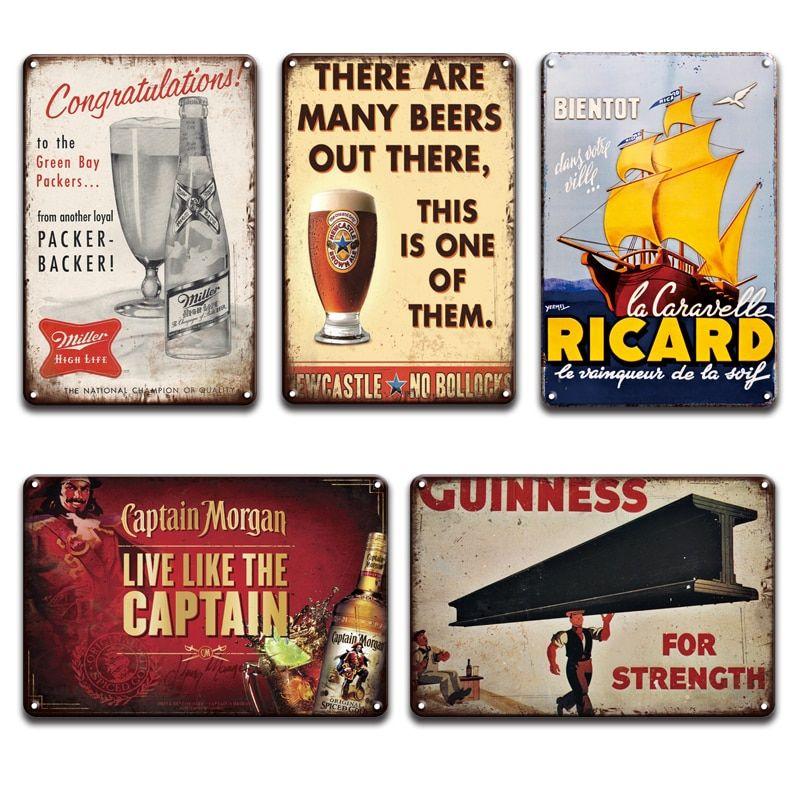 Metal Tin Sign captain morgan lady  Decor Bar Pub Home Vintage Retro