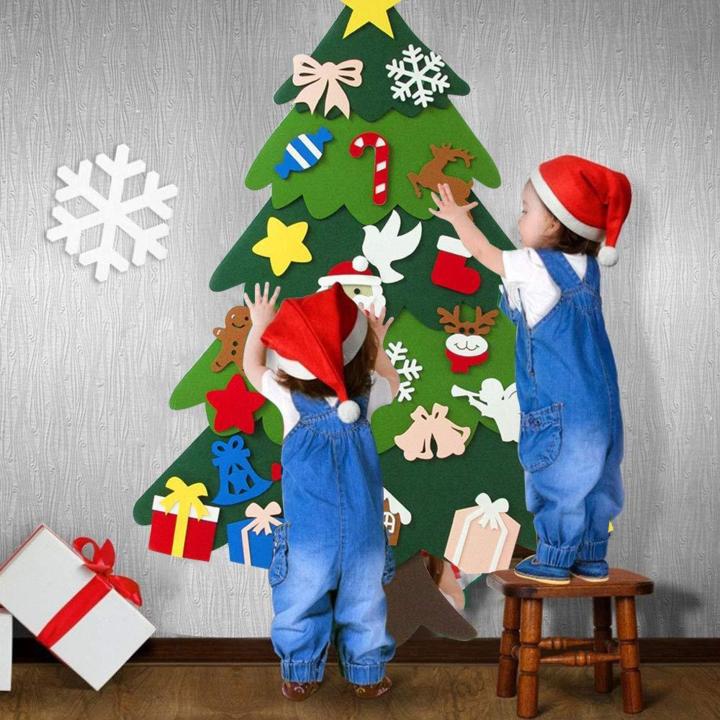 Best Gift For Children Felt Tree Spare Ornaments Bundle Milkbeata In 2020 Diy Felt Christmas Tree Christmas Trees For Kids Felt Christmas Tree